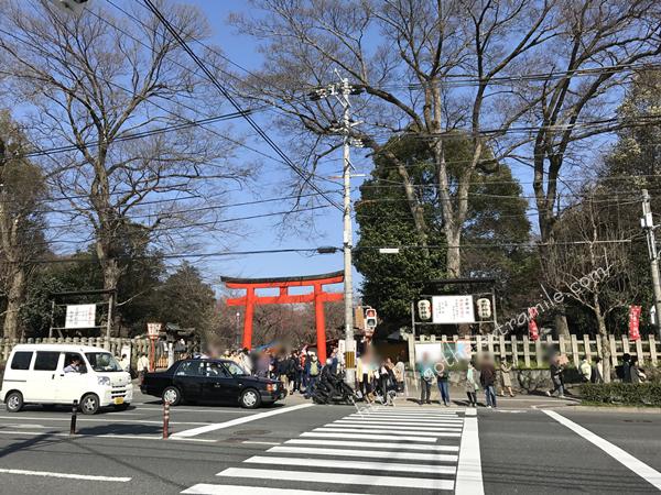 平野神社前写真