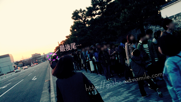 二条城の桜ライトアップ 18時混雑具合